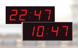 12 or 24 hour mode settings