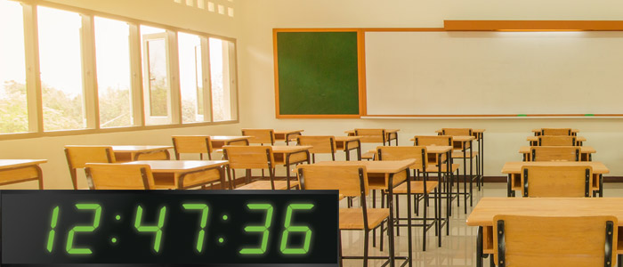 Exam clocks for Classrooms