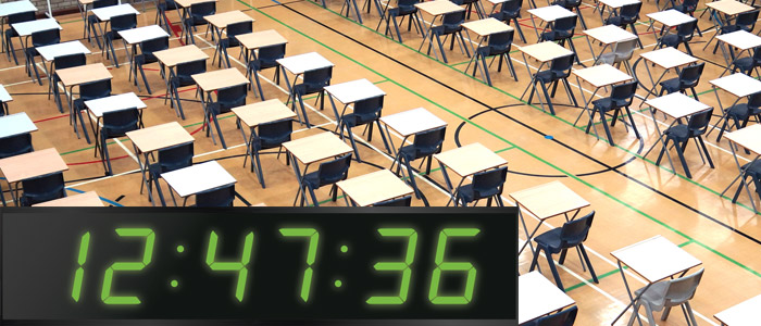 Exam clocks for Halls